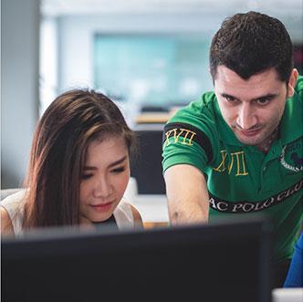 Nexus interns working on client projects
