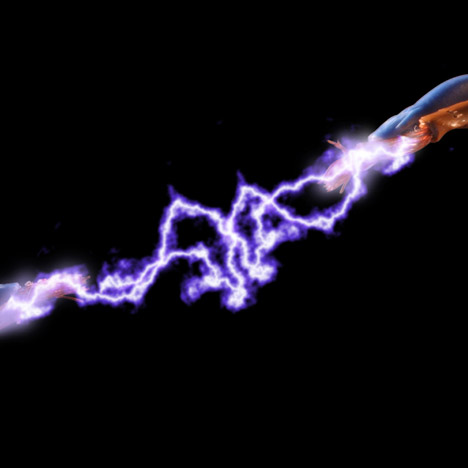 A high voltage electrical current
