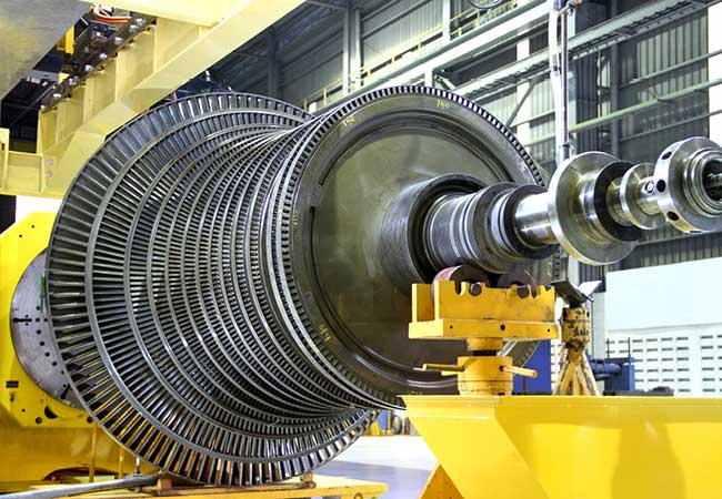 An industrial steam turbine