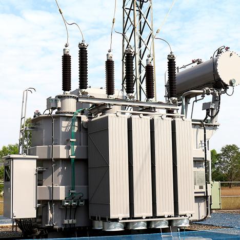 A substation transformer