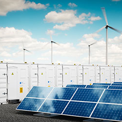 A Battery Energy Storage Systems fueled by solar and wind